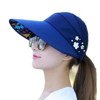 休闲百搭出游防紫外线可折叠防晒太阳帽