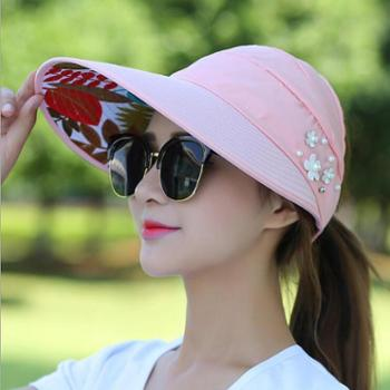 【包邮】帽子女夏天休闲百搭出游防紫外线韩版夏季可折叠防晒太阳帽遮阳帽