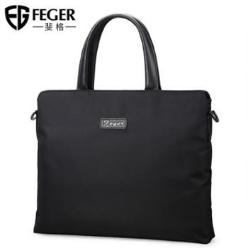FEGER/斐格男士手提包单肩斜挎休闲牛津布背包商务公文包