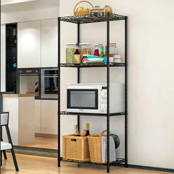 索尔诺置物架厨房落地浴室层架卫生间卧室收纳储物微波炉架子