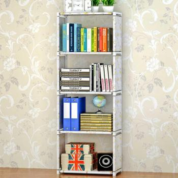 索尔诺加宽加高款五层书架 时尚自由组装实用环保书架置物架层架