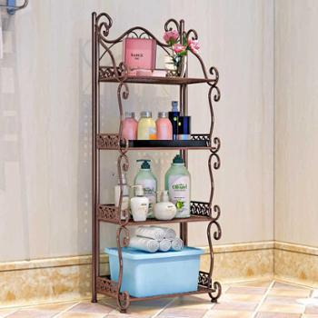 索尔诺铁艺浴室置物架落地卫生间脸盆架洗手间厨房收纳储物层架