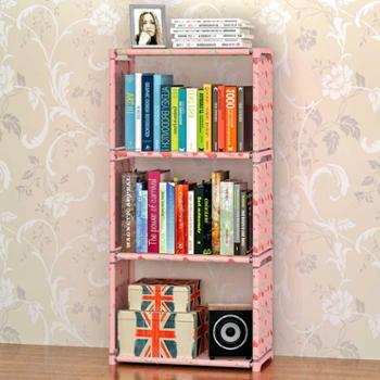 索尔诺新品大号四层收纳层架书架简易储物架单个书柜置物架