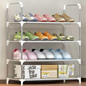 索尔诺新款创意实用鞋架 防锈钢管收纳架 4层简易鞋架