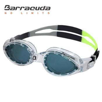 美国巴洛酷达Barracuda高清舒适抗紫外线游泳镜成人款内嵌式防水防雾游泳眼镜#14820
