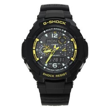卡西欧CASIO手表G-SHOCK航空系列太阳能电波男表GW-3500