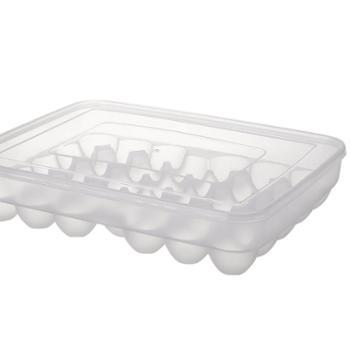 南北客34格大容量厨房透明塑料鸡蛋盒冰箱放鸭蛋托收纳(3盒装)
