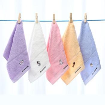 (2条装)洁丽雅纯棉毛巾柔软吸水家用宝宝小澡巾全棉儿童洗脸面巾