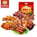 爽康食品 鸭肉零食大礼包肉类卤味组合温州特产鸭舌鸭掌非常6+1