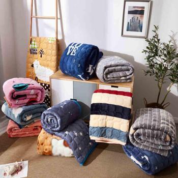 法兰绒冬天保暖床垫子榻榻米学生宿舍1.35m1.8米1.5双人床褥垫被2