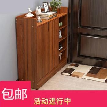 鞋柜简约现代经济型家用多功能超薄鞋柜简易门厅柜门口鞋架仿实木