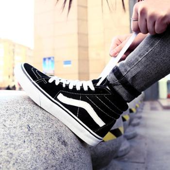 2018潮版情侣休闲鞋帆布鞋经典高帮板鞋滑板鞋硫化鞋学生鞋男鞋女鞋