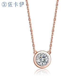 佐卡伊时光里的爱摩天轮18K金钻石项链