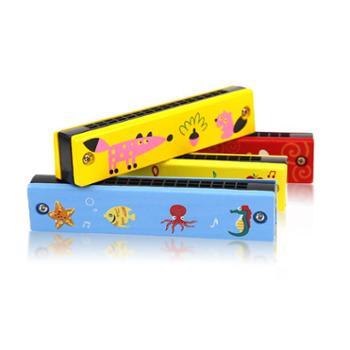 四喜人卡通小号宝宝口琴儿童乐器玩具木制木质幼儿吹奏迷你儿童琴