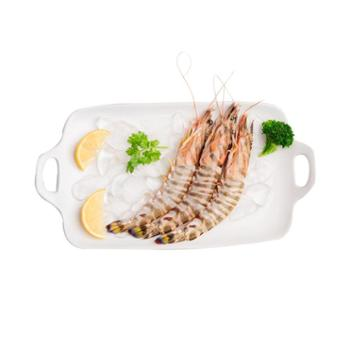 摩时渔鱼 野生海捕竹节虾 舟山特产 春季时令 冰鲜海鲜 1盒装(9-11头/350g)