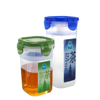 茶花水杯塑料学生便携乐随身杯防漏密封滤茶杯带滤网扣盖子随手杯