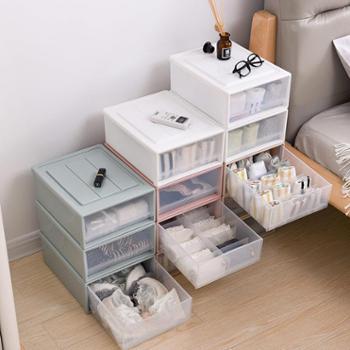 韩秀抽屉式内衣收纳整理柜收纳盒三件套/文胸、内裤、袜子盒
