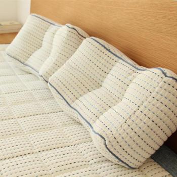 在耳边素色良品风枕头加厚毛巾布休闲枕腰靠