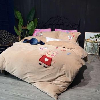 冬季睡眠佳品加厚超柔宝宝绒特种绣系列