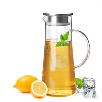 耐热玻璃冷水壶大容量凉水壶透明玻璃果汁壶