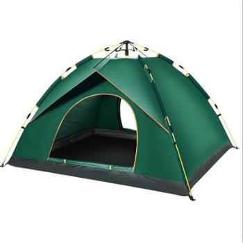 全自动帐篷户外3-4人加厚防雨2人单人双人野营野外露营帐篷