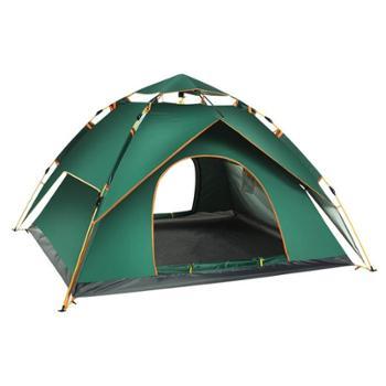 自由之舟骆驼全自动帐篷户外3-4人野营加厚防雨2人防暴雨双人野外露营帐篷
