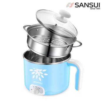 山水(SANSUI)多功能电火锅 1.5L迷你电煮锅 分体式煮面锅AJL-15E