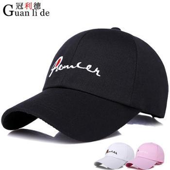 帽子时尚户外韩版休闲防晒棒球帽男女士百搭遮阳刺绣鸭舌帽