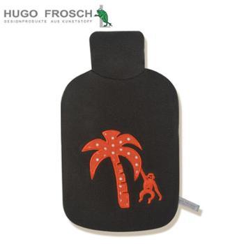 HUGOFROSCH德国迷你小热水袋可爱儿童绒布注水暖水袋小号暖手宝暖宫卡通