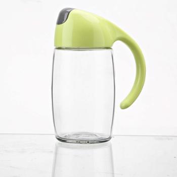 建厦自动翻盖油壶 调料壶油罐调味壶300ml绿色