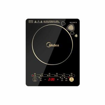 美的(Midea)C21-WK2102电磁炉触控按键黑晶面板一键爆炒定时功能电磁炉