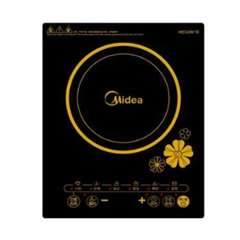 美的(Midea)C21-RT2140电磁炉触控按键黑晶面板六大烹饪功能一键爆炒定时功能电磁炉