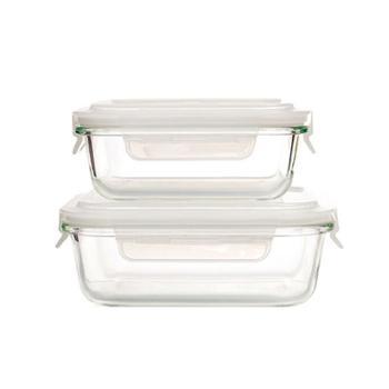 康宁透明保鲜饭盒两件套RWU-B2F/YK