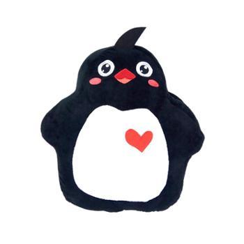 品漫会南极之恋暖手萌短毛绒企鹅抱枕
