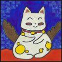 卧室床头挂画背景墙画客厅现代壁画简约挂画油画《不爱套路的猫-点点》
