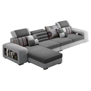 布艺沙发客厅整装组合可拆洗沙发小户型布沙发现代简约经济型家具