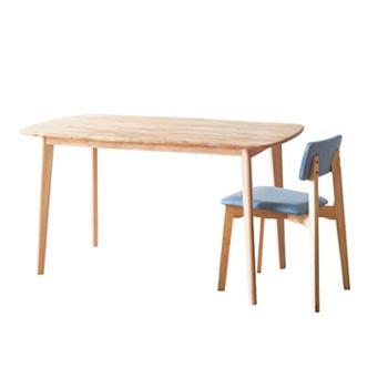 北欧实木餐桌椅组合现代简约小户型家用餐桌