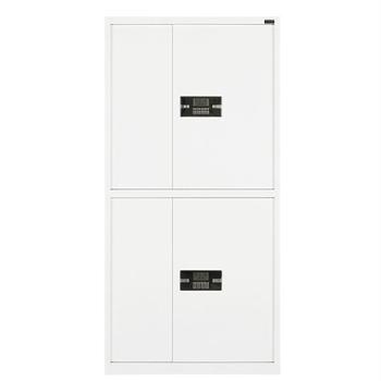 金属保密柜钢制密码锁办公保密文件柜电子带锁保险柜暖白双节电子锁
