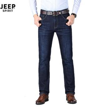 JEEP/吉普男加厚弹力直筒牛仔裤JPCSR001Z