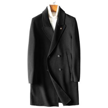 JEEP/吉普秋冬男中长款修身毛呢大衣外套JPCS0105T