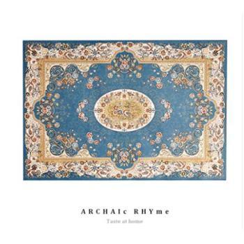 新美式欧式田园地毯客厅茶几垫卧室书房床边毯长方形绒面环保地毯 O2O活动商品,线上拍下不发货