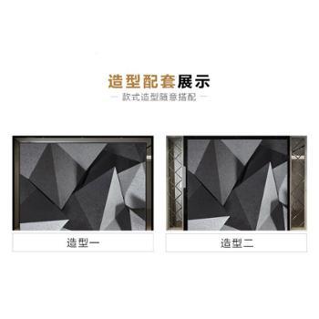 电视背景墙瓷砖简约现代微晶石客厅装饰