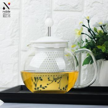 诺比尔花茶壶耐热高温陶瓷过滤玻璃大容量家用泡茶壶