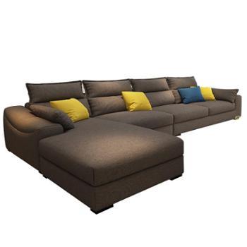 北欧小户型组合贵妃沙发现代简约客厅整装家具可拆洗乳胶沙发