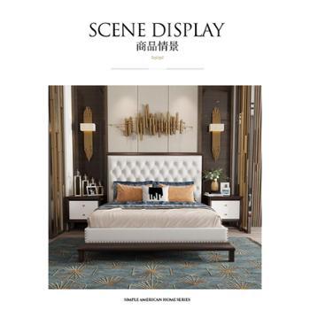 美式床实木床高端家具1.8m米主卧法式轻奢公主床新婚床双人欧式床