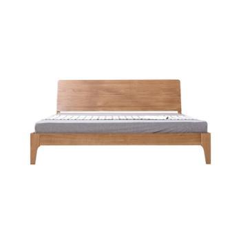 全实木床白橡木1.8米双人床北欧简约日式1.5/1.2米单人床卧室家具