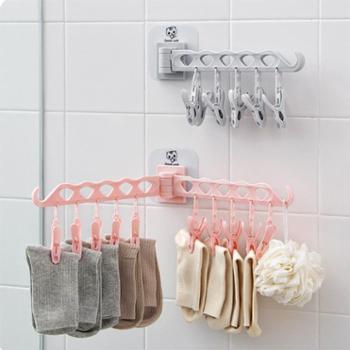 墙壁晾衣夹裤子内衣墙上卧室收缩衣服晒衣篮衣夹子