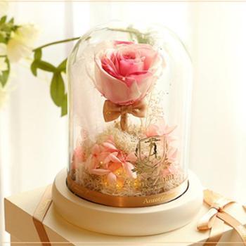 【臻享永生】520时空呢喃-单支进口永生玫瑰花带灯