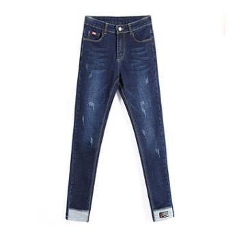 维蒙E族牛仔裤女夏季长裤韩版显瘦夏装紧身小脚牛仔裤潮女8919