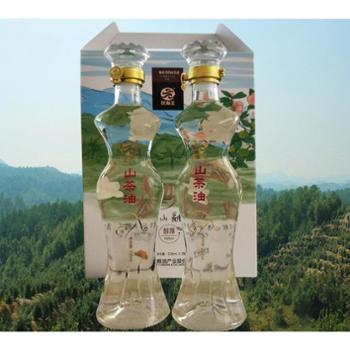 一级压榨山茶油 338ml*2瓶原香型纯山茶籽油
